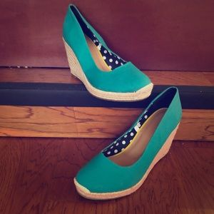 Teal Merona Wedges